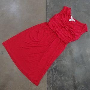 Max Studio Ruffled Sleeveless Mini Dress
